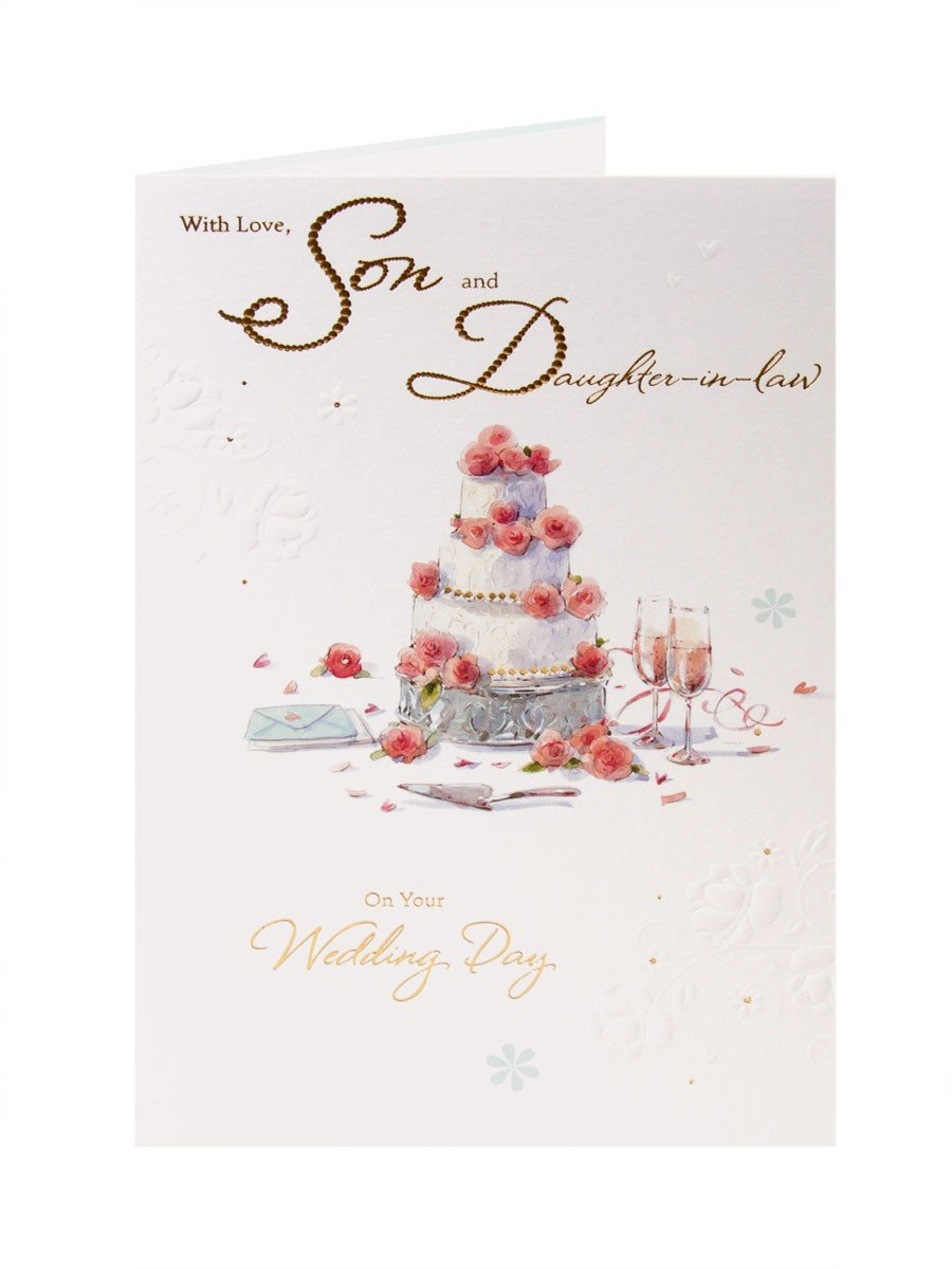 Son And Daughter In Law Wedding Greetings Card Amazon