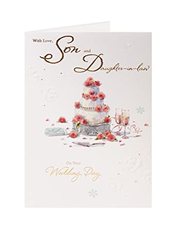 Son and daughter in law wedding greetings card amazon son and daughter in law wedding greetings card m4hsunfo