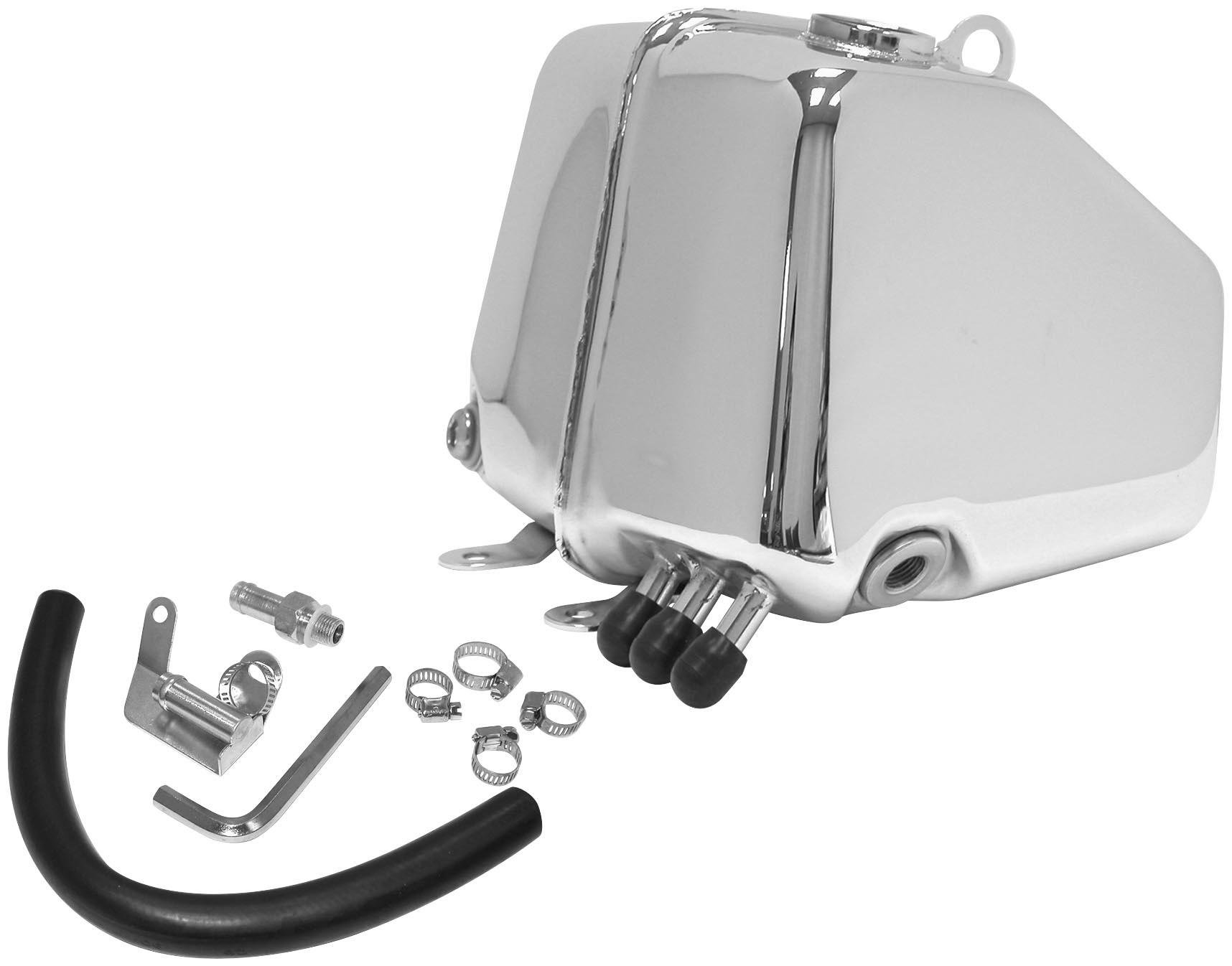 Bikers Choice FXR Oil Tank - Chrome 011370 by Biker's Choice (Image #1)