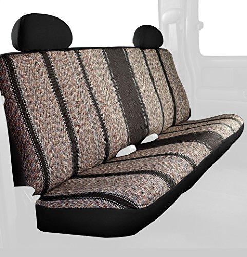 Fia TR42-95 BLACK Custom Fit Rear Seat Cover Bench Seat - Saddle Blanket, (Black)