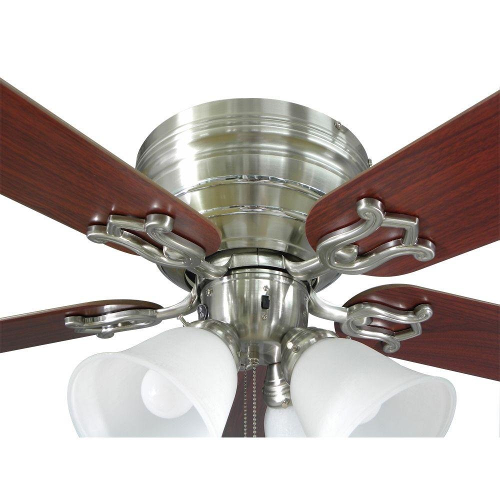 Hampton Bay Carriage House 52 In Indoor Brushed Nickel Ceiling Fan Glendale Fans Wiring Free Download