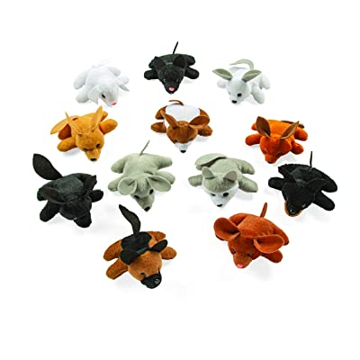 Plush Dog Pound Assortment (24 bean bag stuffed animals) Party Favors, Plush Toys: Toys & Games