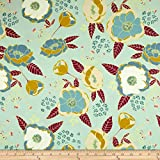 Art Gallery Fabrics Garden Dreamer Jersey Knit Sprinkled Peonies Fabric by the Yard, Serene
