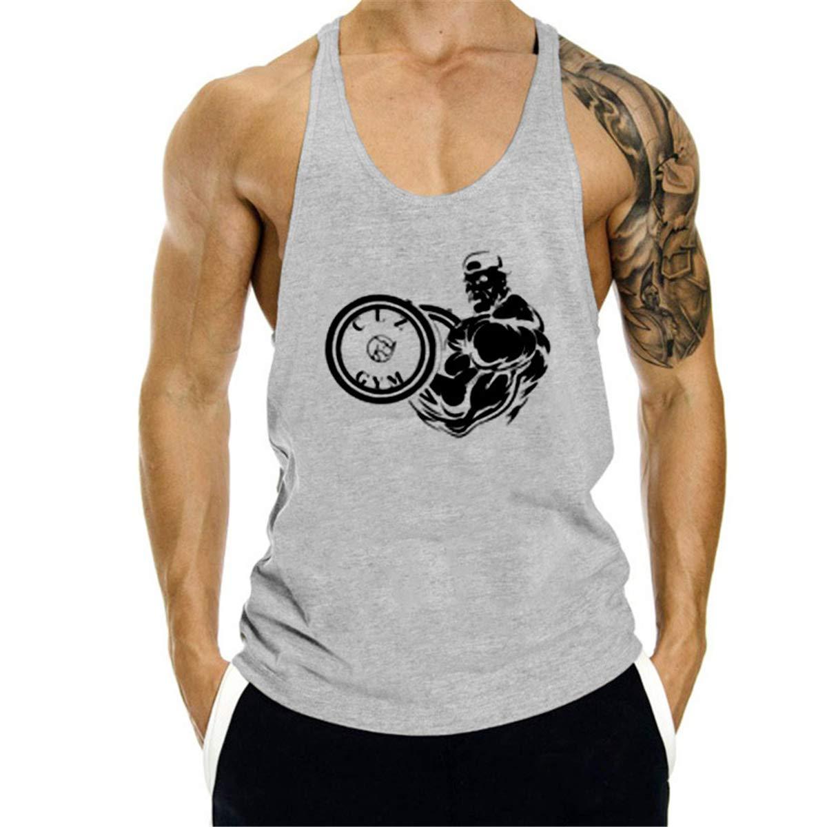 Cabeen Uomo Sportivo Canottiera Tank Top smanicata da palestra Bodybuilding, cotone