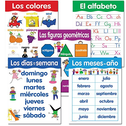 Creative Teaching Press Spanish Basic Skills, 5-Chart Pack (5792) -