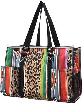 Leopard Serape NGIL Large Canvas Tote Bag