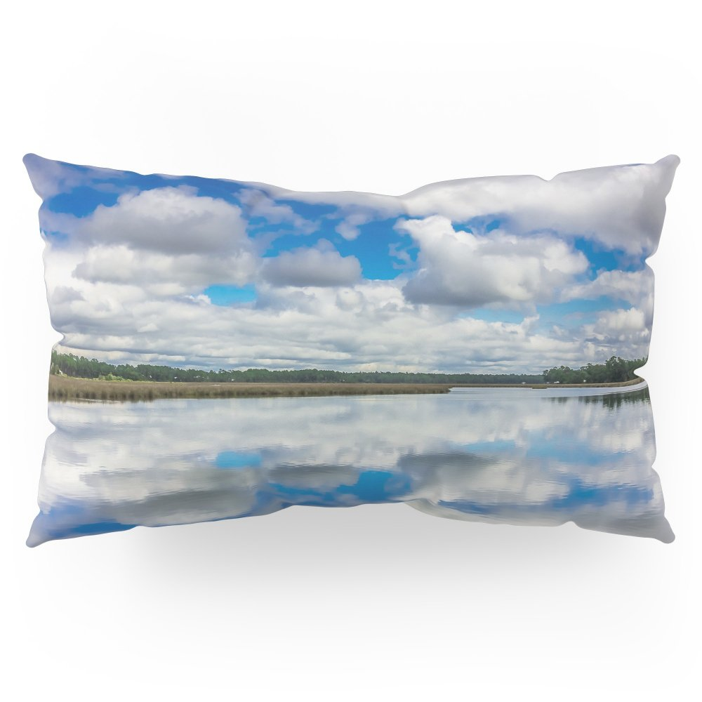 Society6 Clouds Reflected Pillow Sham King (20'' x 36'') Set of 2