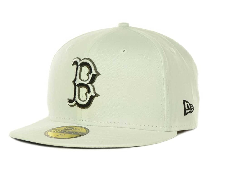Boston Rojo Sox New Era MLB camuflaje bisel blanco 59 Fifty - Gorra plana  Bill sombrero gorra 5931361576d