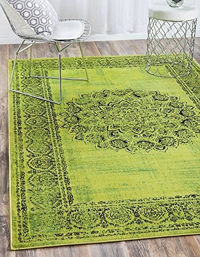 3' Sage Green (Unique Loom Istanbul Collection Sage Green 2 x 3 Area Rug (2' x 3'))
