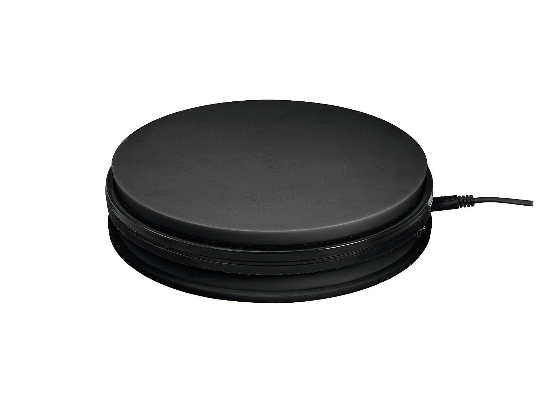 Showking Drehteller Ø45cm, max. Belastung 50kg, schwarz - elektrische Drehplatte Rotierender Teller