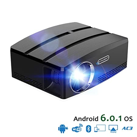 MXQH Proyector de película, Mini proyector portátil, 1800 Lumen ...