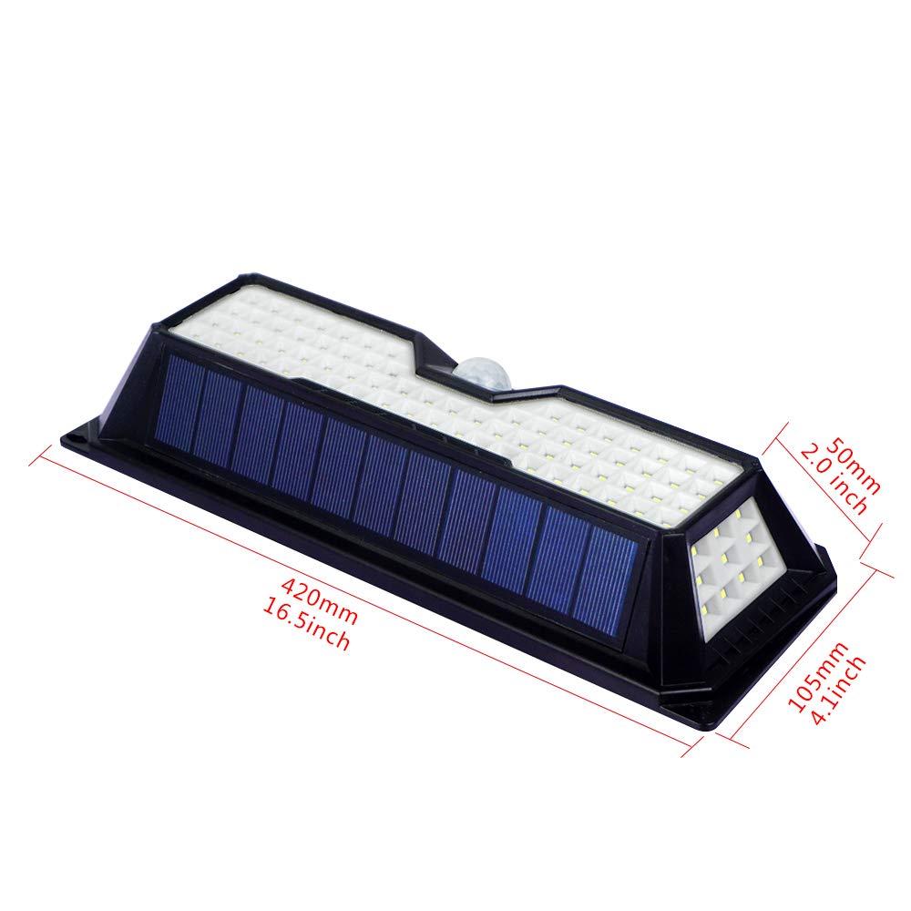 ECO LLC Solar Lights 136 LED Waterproof Outdoor Wall Lights Wireless Solar Motion Sensor Lights for Front Door,Backyard, Garage,Porch,Deck, Driveway(4 Pack) by ECO LLC (Image #7)