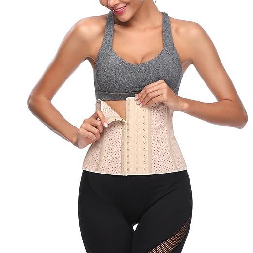 4db152e8909ab LUCA Breathable Women Waist Shaper Corset Tummy Control Girdle Belt Sport Body  Shaper Trainer Body Shapewear Belt at Amazon Women s Clothing store
