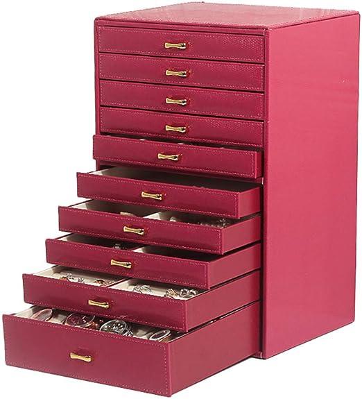 Nobuddy Caja Joyero Extra Grande, Organizador de Joyas de 10 Capas ...