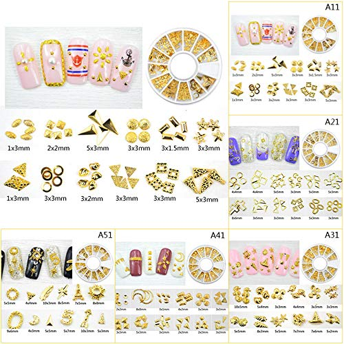 3 BOX Metal Nail Metal Rivets Millet Grains Alloy Patch Jewelry 12 Grids Nail Diamonds Metal Plates
