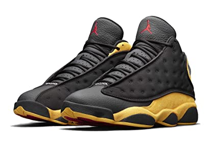 newest collection 54051 fea41 Image Unavailable. Image not available for. Color Air Jordan 13 Retro  Mens Basketball Shoes Black University Red 414571 ...