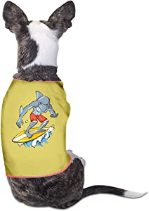 Agilitynoun Dog T-Shirt Clothes Surfing Shark Doggy Puppy Tank Top Pet Cat Coats Outfit Jumpsuit Hoodie