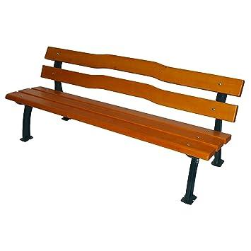 Gartenbank holz metall  Parkbank mit Gussgestell - Sitz- und Rückenfläche Fichtenholz ...
