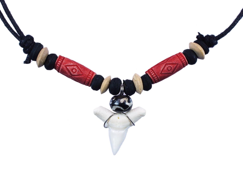 exoticdream Shark Tooth Tribe Beads Necklace Handmade Hawaiian Beach Boy Men sharktribe