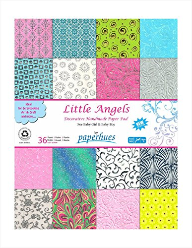 Paperhues 'Little Angels' Decorative Paper Pad, 36 Sheets, 8.5x11