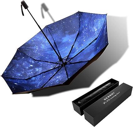 USA Flag Automatic Folding Umbrella Super Sunscreen Rain Portable Creative UV Protection Tri-Fold Umbrella