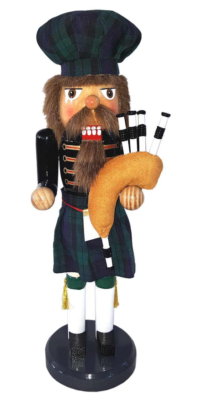 Santa's Workshop 70884 Irish Bagpiper Nutcracker, 14'' ,,