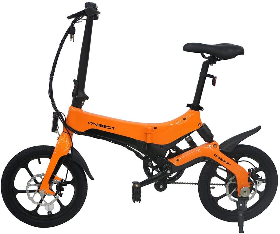 Bicicletas Eléctricas PLEGABLE 250W 25km/h 16 Pulgadas para Mujeres Hombres Bici de Montaña/Ciudad/Carretera 36V Batería Removible de Litio Pantalla LCD Frenos de Disco 3 Modos [EU STOCK]