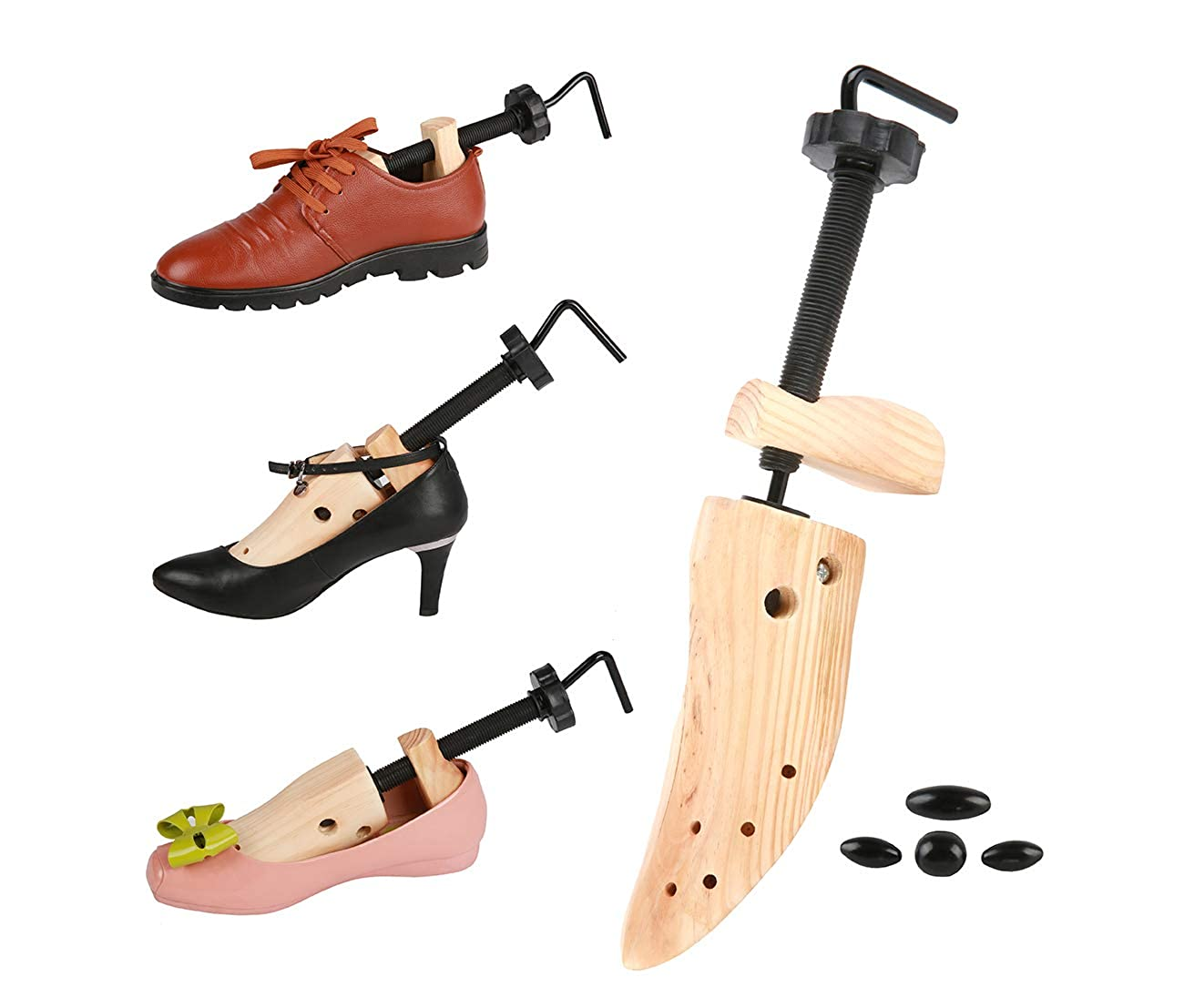 Langer /& Messmer shoe stretcher And Shoe Wideners Made Of Beech Wood For Gentlemen Width And Length Leather Stretcher Incl