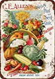 "9"" x 12"" METAL SIGN - 1898 C.E. Allen's Plants and Seeds - Vintage Look Reproduction"