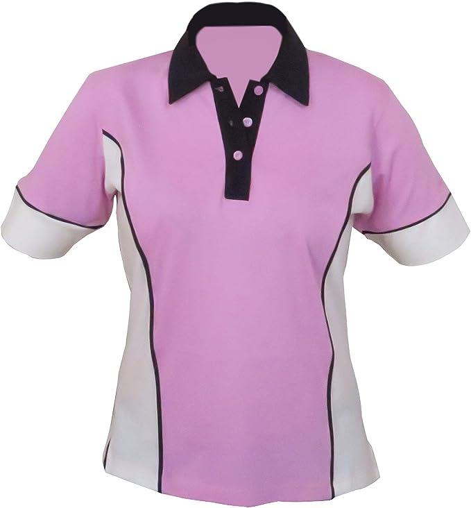 Moose Sportswear Polo Sportiva Elise 100/% Cotone Pima Design Elegante e Sottile. Super Morbido