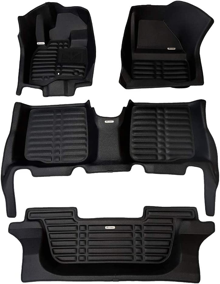 Waterproof All Weather Full Set - Black The Ultimate Winter Mats TuxMat Custom Car Floor Mats for Lincoln Aviator 6-Seater 2020 Model/ - Laser Measured Largest Coverage Also Look Great in the Summer./ The Best/ Lincoln Aviator Accessory