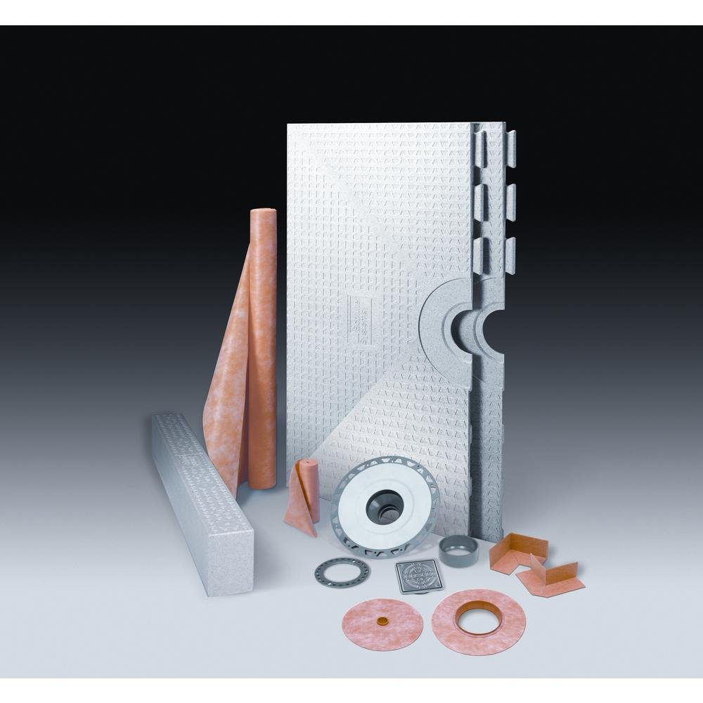 KERDI-SHOWER 48 in. x 48 in. ABS Shower Kit with Stainless-Steel Drain