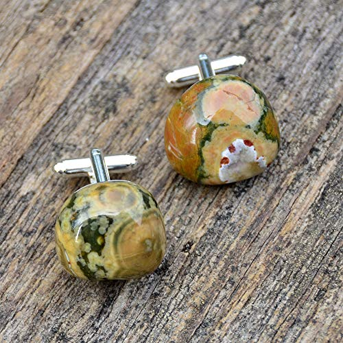 Agate Cufflinks - Protection and Cleansing - Handmade ()