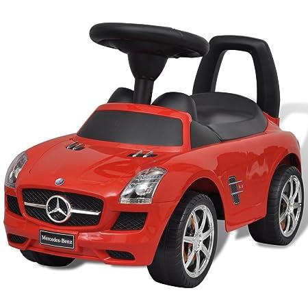 vidaXL Coche Correpasillos de Niños Mercedes Benz Rojo Coche ...