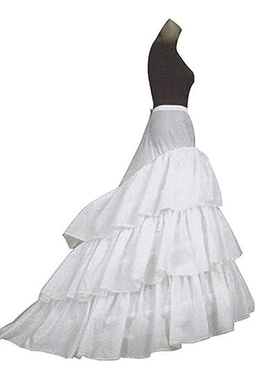 A-Line mujer enagua miriñaque blanca para novia guardainfante de ...