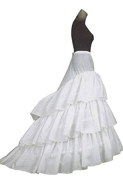 A-Line mujer enagua miriñaque blanca para novia guardainfante de novia enagua  falda paseo nupcial de 3 capas vestido de novia accesorios de la boda  ... 3c4bf1acb913