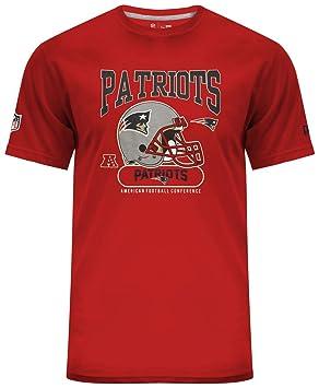 New Era New England Patriots Helmet Classic NFL T-Shirt Red  Amazon ... fd28b0f0d