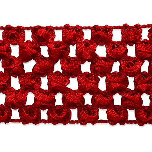 Expo International 1-3/4-Inch Crochet Stretch Trim Embellishment, 20-Yard, Red by Expo International