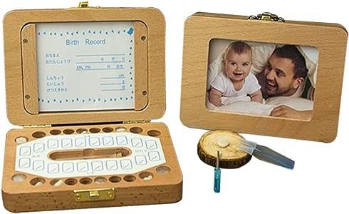 Cajas para dientes de bebé Caja para guardar dientes para niños y niñas Regalo para niños en madera de souvenir Acumulación de dientes: Amazon.es: Bebé