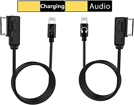 MDI MMI Adapter Compatible for Mercedes Benz Selected Model for iPXs Xs Max X XR 8 7 6 Plus MDI Audio AUX Cable Music Power Car Interface