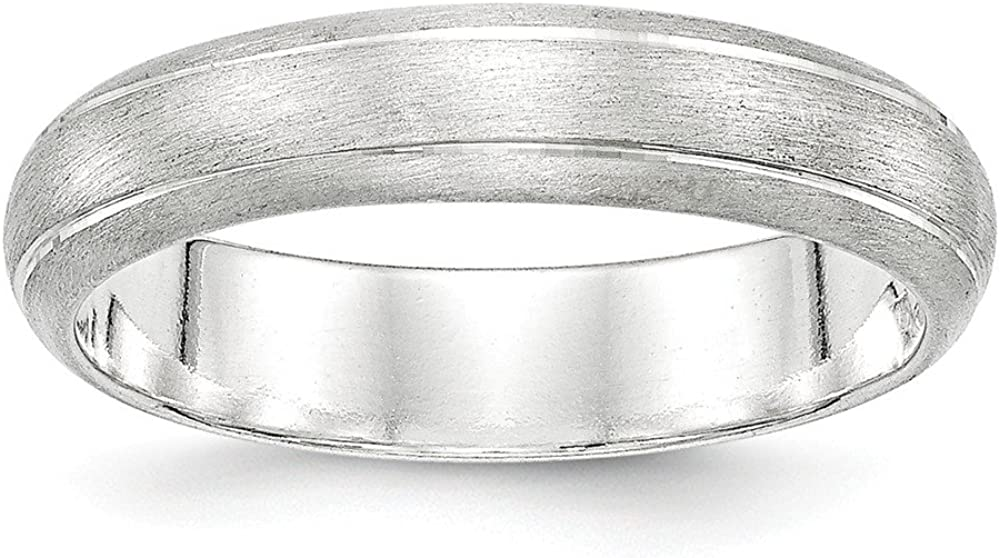 Sterling Silver 5mm Satin Finish Band Size 9 Length Width