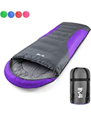 Adult Sleeping Bag 3 Season Single Person Warm Hood Carry Bag Trail Alpine 250