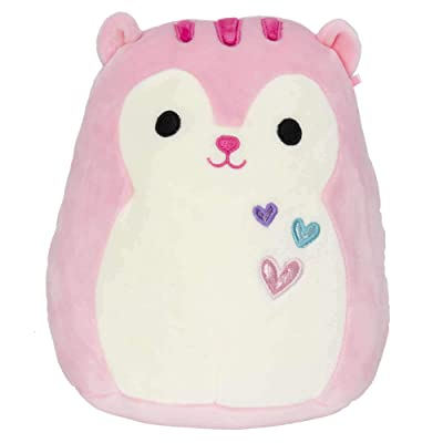 Squishmallow Kellytoy 2020 Valentines Squad 12 Inch Sarah The Pink Squirrel Plush Doll: Toys & Games