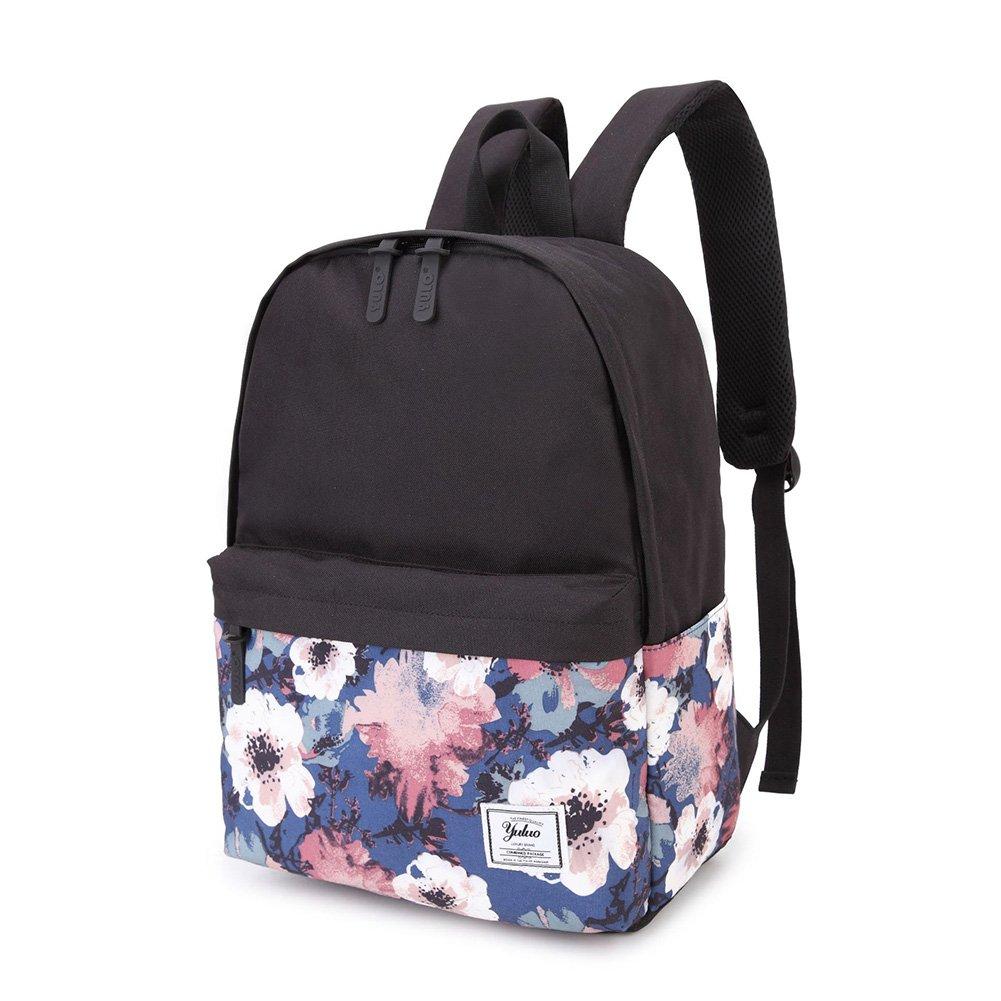 HaloVa Backpack, Quality Men's Women's Rucksack Knapsack, Wear-resistant Waterproof Air-permeable Large Capacity Canvas Laptop Schoolbag, Black