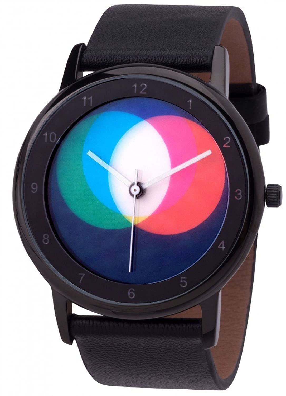 Avantgardia RGB (NEUES DESIGN) – Rainbow e-motion of color Unisex Armbanduhr EdelstahlgehÄuse