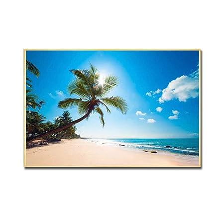 zxddzl Cartel e impresión Paisaje Marino Playa Arte de la ...