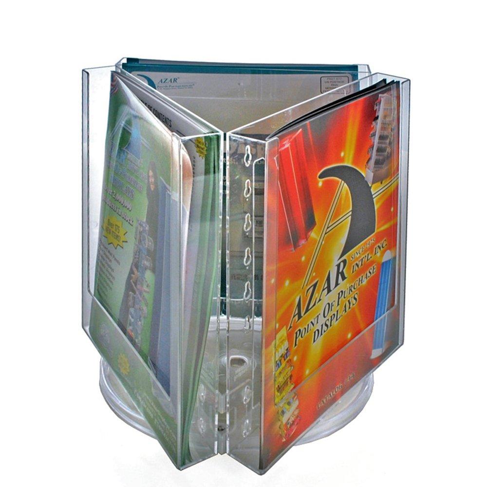 Azar 252320 Three Pocket Letter Size Holder on Revolving Base, 2-Pack by Azar Displays
