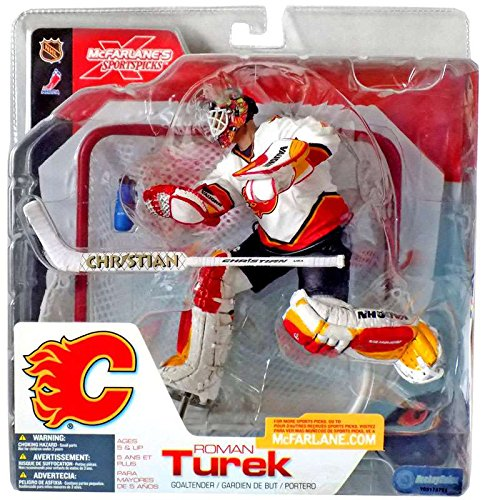 Mcfarlane Toys Nhl Sports Picks (Mcfarlane Toys NHL Sports Picks Series 3 Action Figure: Roman Turek White Jersey)