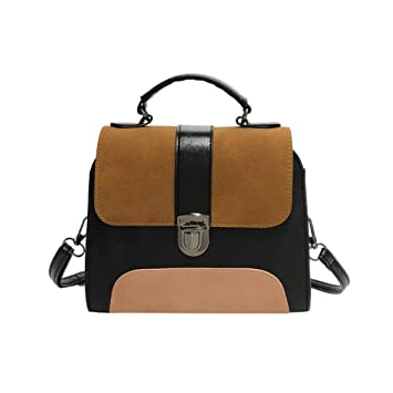 3961ded9899 Women Bag, Neartime 2018 Girl Fashion Patchwork Leather Buckle Bag  Versatile Crossbody