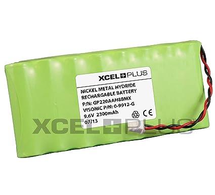 Visonic 1800 mAh PowerMax Pro V 9,6 Panel de alarma para batería para 0
